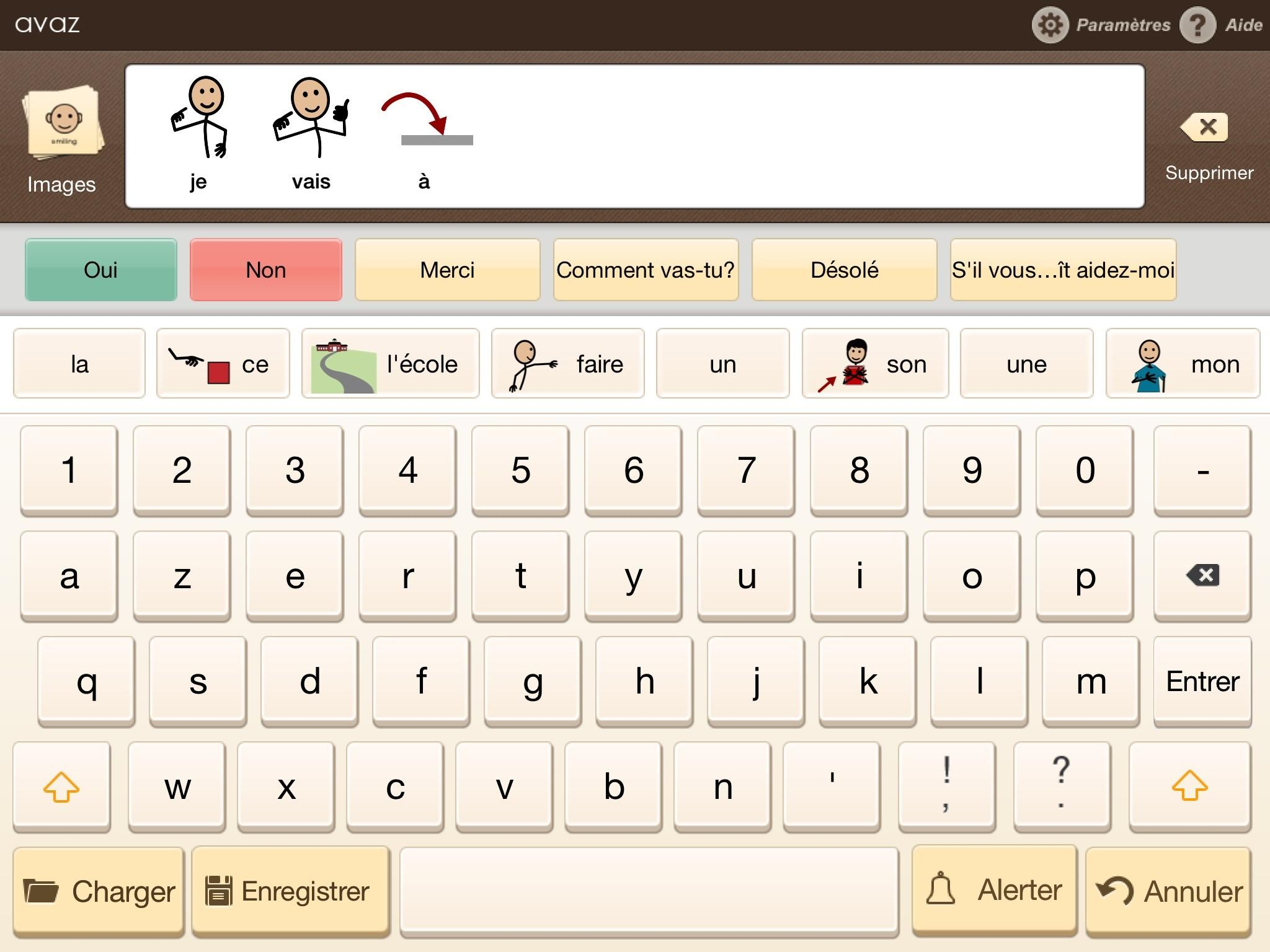 Petit aperçu de l'application Avaz en français