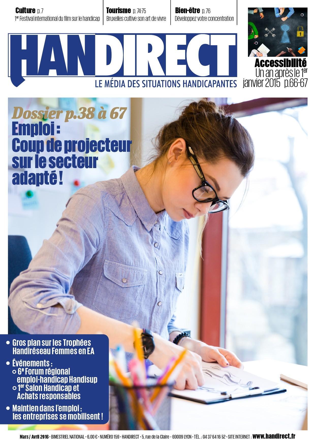 Couverture Handirect 159 - Accessibilité et emploi