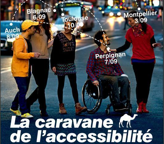 Accessibilité des villes Caravane Jaccede