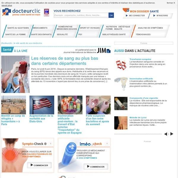 Santé sur internet Docteur clic