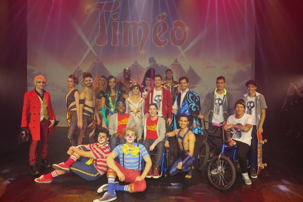 La troupe du spectacle Timéo