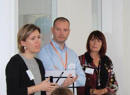 De gauche à droite : Peggy Vivier, Emmanuelle Chevallier et Isabelle Decosse - SNCF