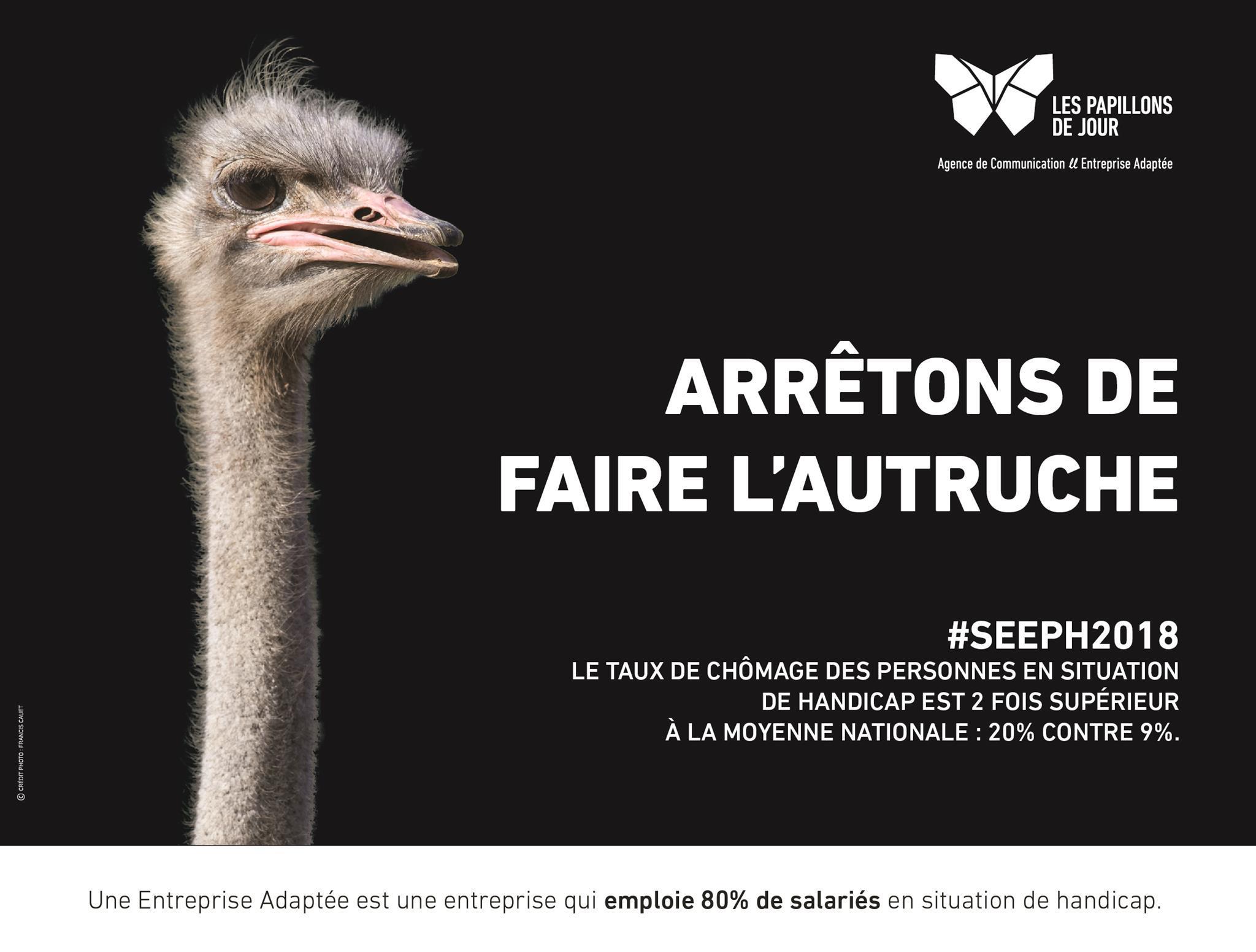 Campagne SEEPH lancée par les Papillons Blancs autruche