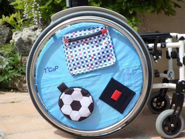 T Cap propose des accessoires pour personnaliser un fauteuil roulant mais pas seulement.