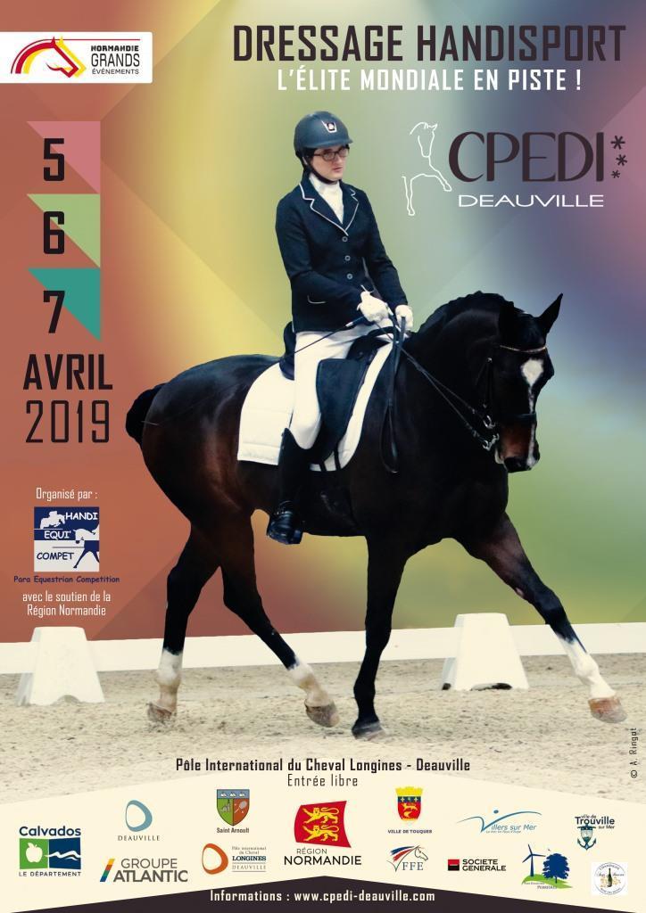 CPEDI 2019 concours de para-dressage international à Deauville