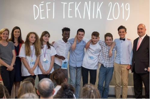 TEKNIK récompense des collégiens pour leur initiative en faveur des personnes mal-voyantes