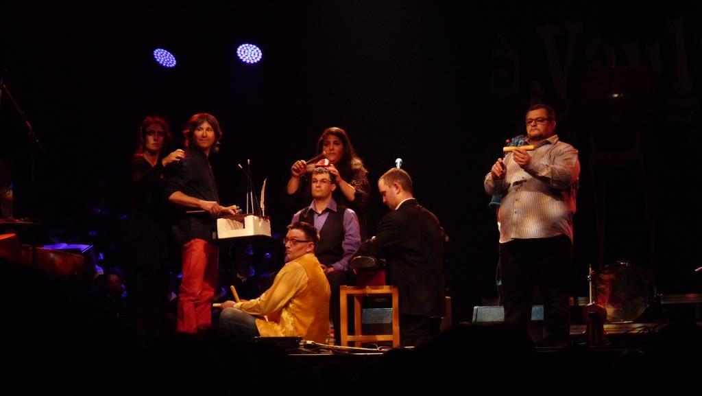 Les musiciens des percussions de Treffort
