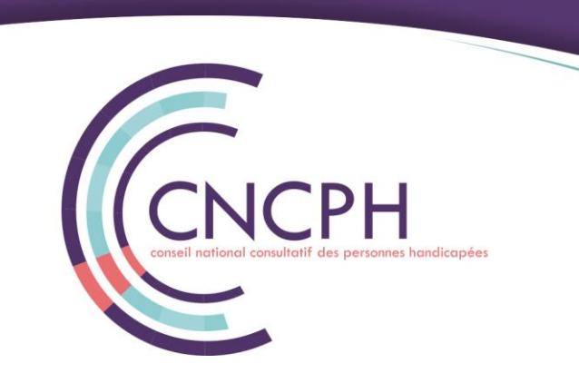 Le CNCPH : Conseil National Consultatif des Personnes Handicapées