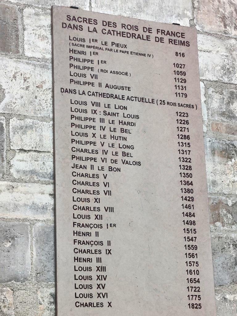 Les prestigieux couronnements de Reims.