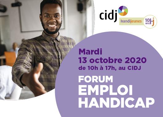 Forum emploi handicap du CIDJ : Rencontres, réseau et conseils