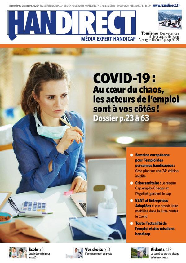 Handirect 186 Dossier Emploi et handicap face au Covid