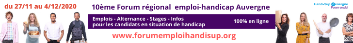 Bannière forum emploi handicap