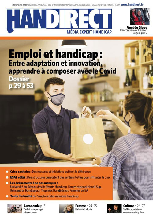 Handirect 188 - Mars-avril 2021 : Emploi et handicap : S'adapter au Covid