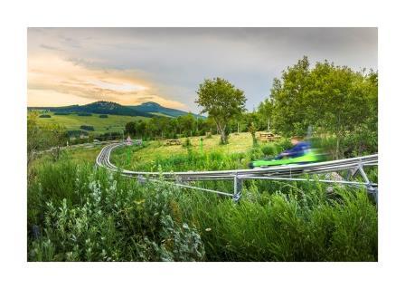 Des luges accessibles à tous pour faire le plein de sensations en Auvergne © Lugik Parc