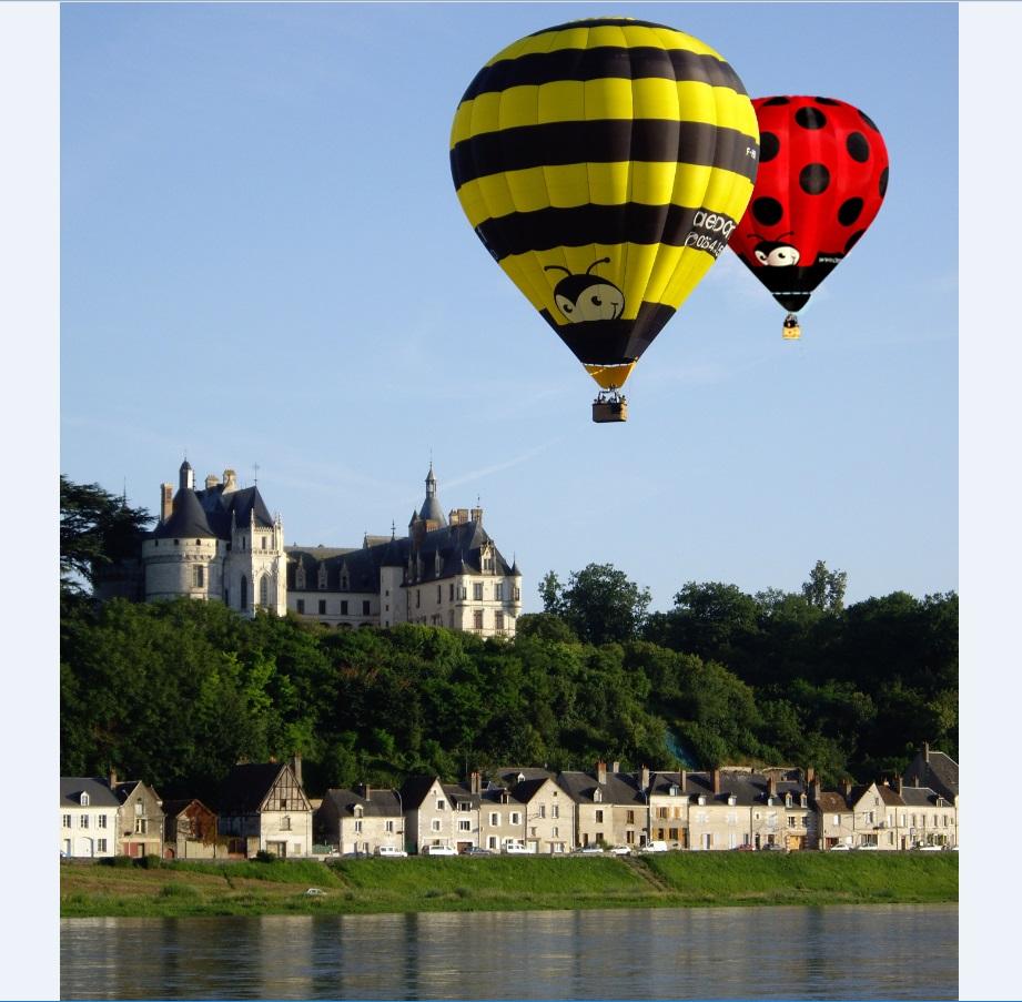 Découvrez la Vallée de la Loire en montgolfière accessible - Vacances accessibles en Centre-Val de Loire © Aérocom Montgolfière